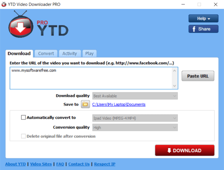 YTD Video Downloader Pro Crack With Serial Key Free Download {Latest}
