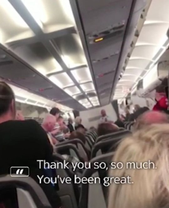 airline passengers raise money