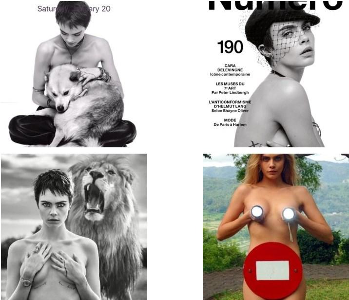 Cara Delevingne Topless Photos
