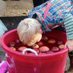 All Souls Church bobbing for apples