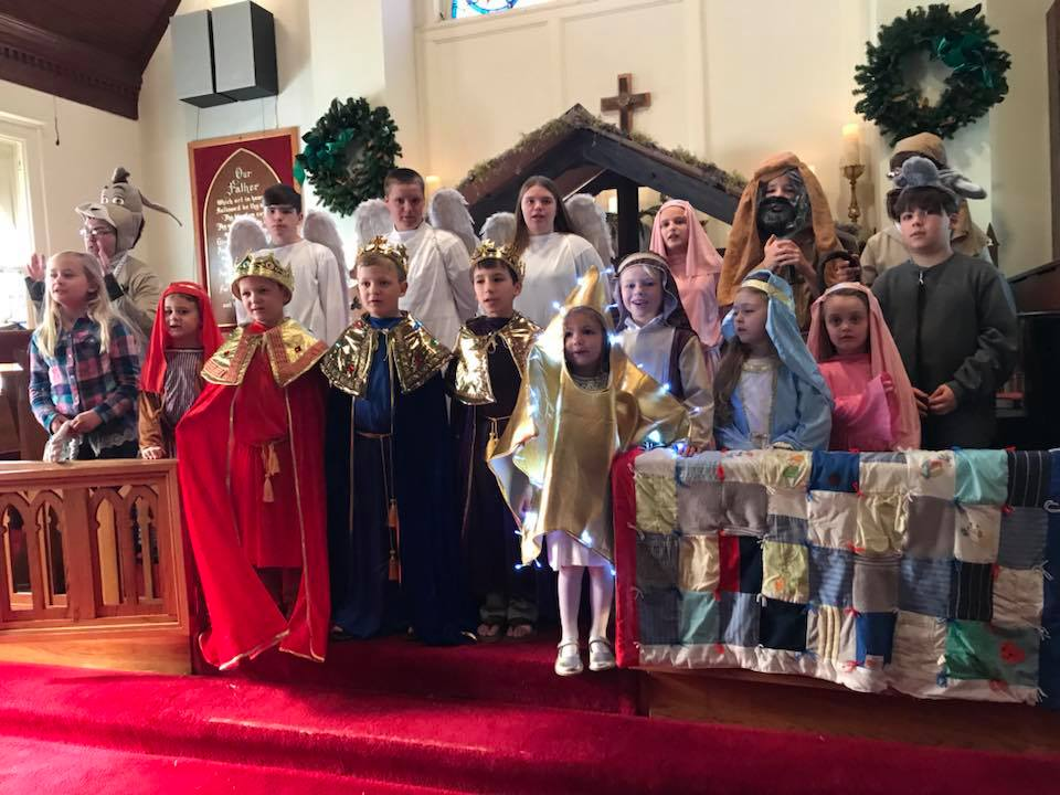 Christmas pageant at All Souls Church in Scott Arkansa
