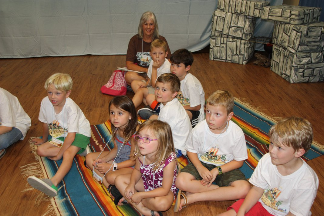 Kid's Ministry, All Souls Church, Scott Arkansas, listening in sunday school