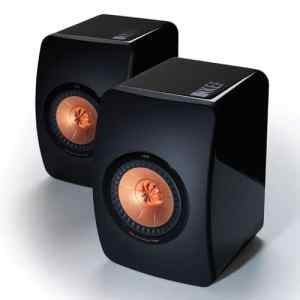 KEF LS50 Mini Monitor - High Gloss Piano Black (Pair)