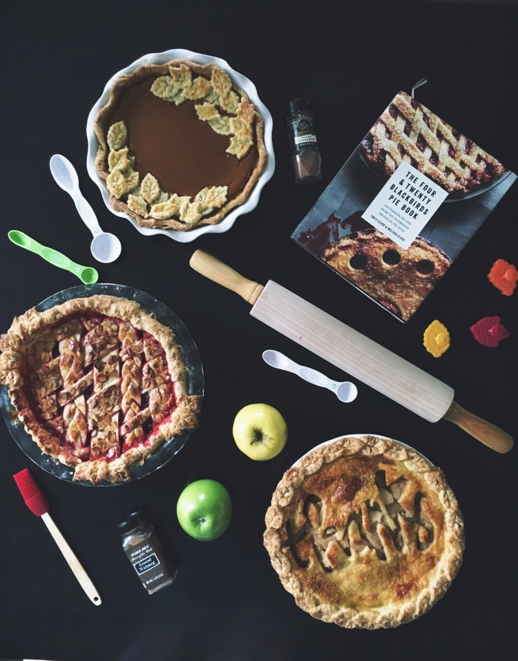 Thanksgiving table of pie