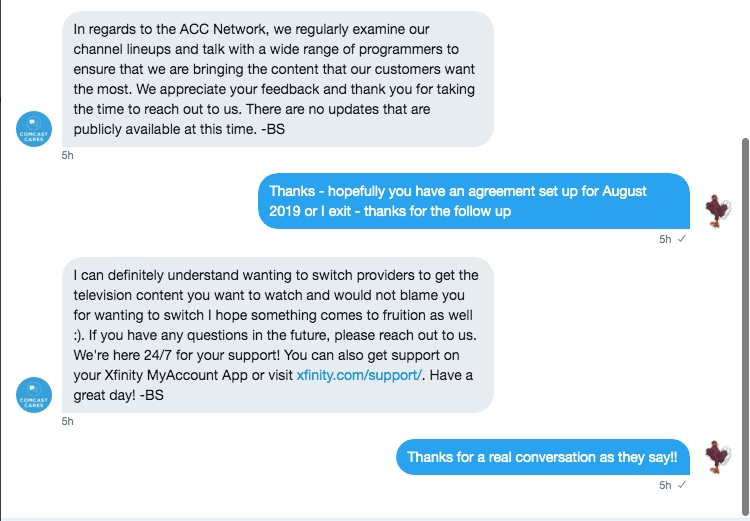 A Random Call to @Comcast on the Status of the #ACC Network » All