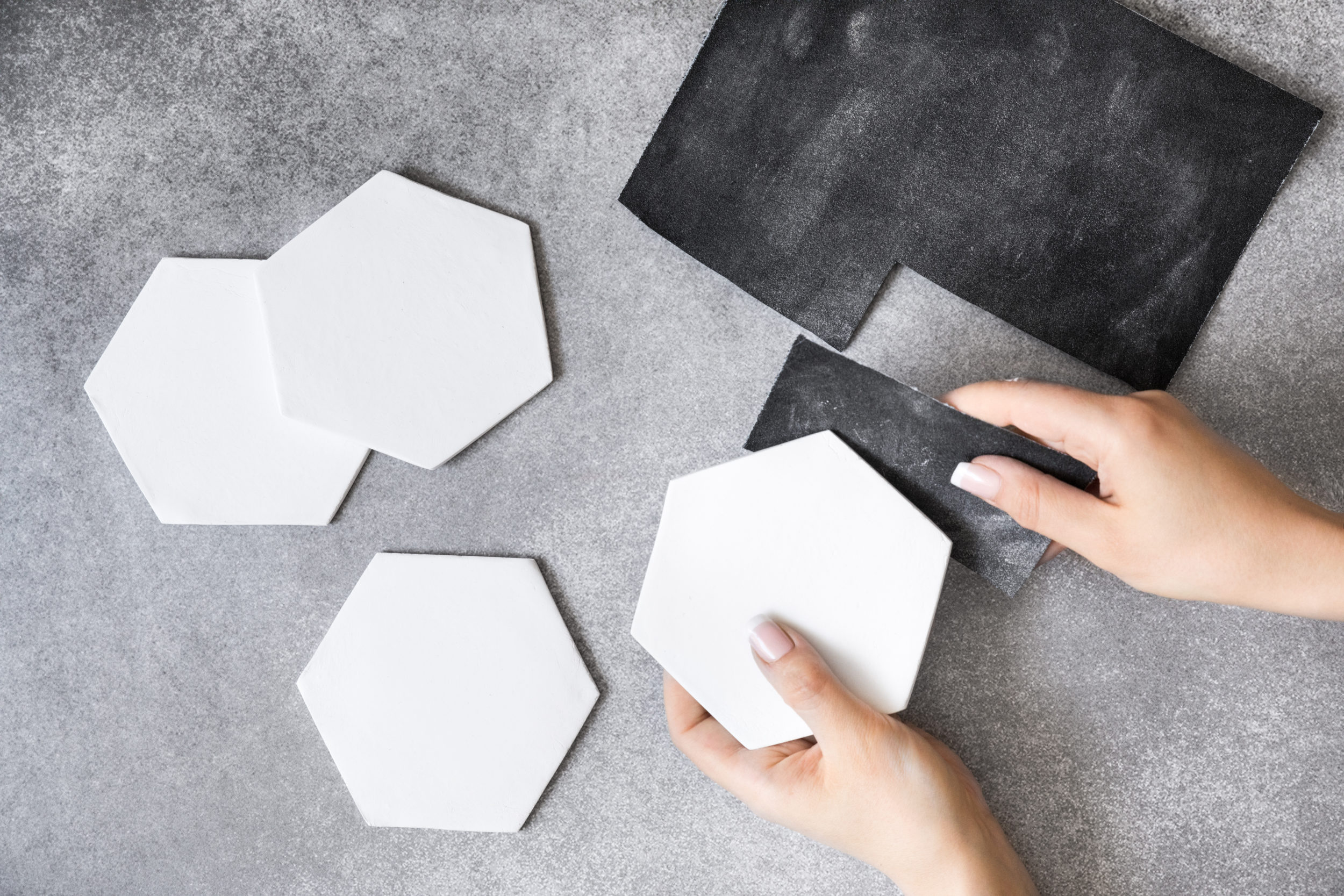 marble effect coaster
