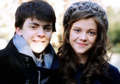 Keynes with his co-star, Georgie Henley
