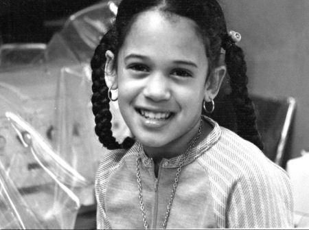 Childhood photo of Kamala Harris