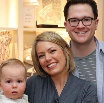 Dylan Dreyer with her husband, Brian Fichera and their son, Calvin