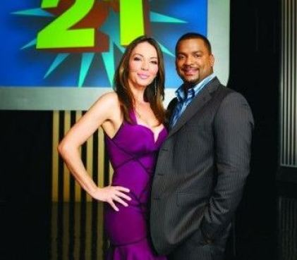 Mikki with Alfonso Ribeiro on the Catch 21 show