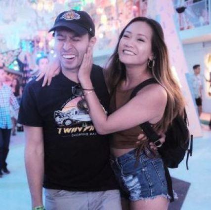 Ryan with his girlfriend, Helen Pan