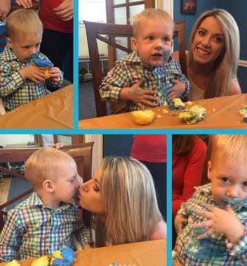 Audra Martin with her nephew
