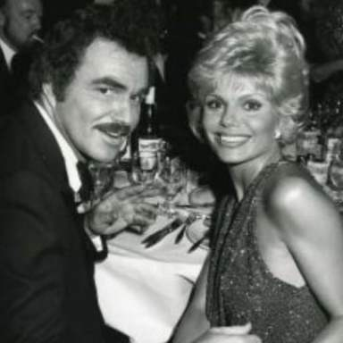 Burt Reynolds with Loni Anderson during the 80s