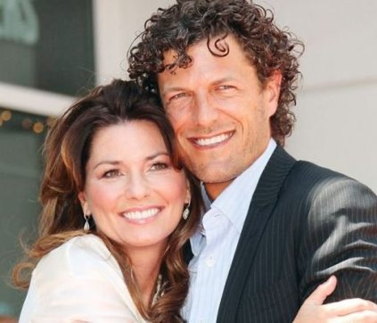 Shania with her present husband, Frederic Thiebaud