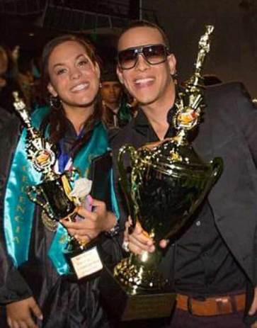 Yamilet Ayala with her father, Daddy Yankee