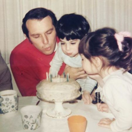Allison Adler's childhood picture with her father & brother