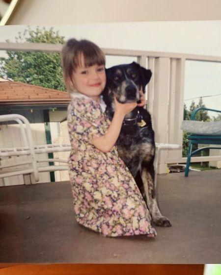 Michelle Mylett's childhood picture
