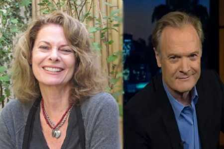Kathryn Harrold with her ex-husband Lawrence O'Donnell