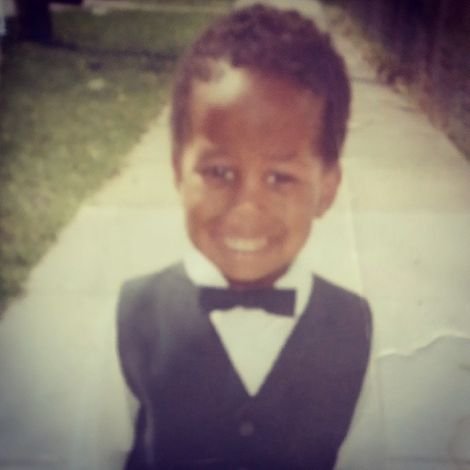 Lamorne Morris's childhood picture