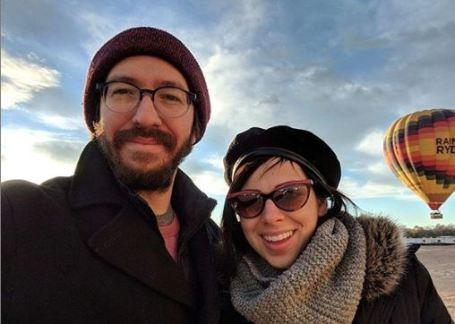 Krysta Rodriguez with her boyfriend, Peter Westervelt.