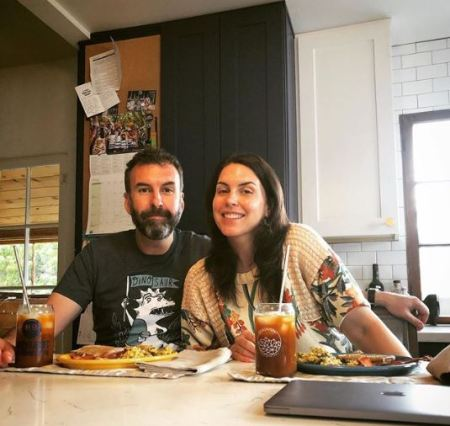 Matt Braunger eating breakfast with his beautiful wife