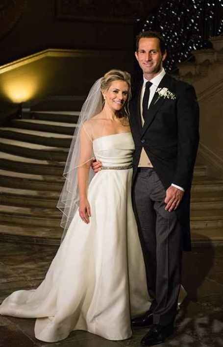 Georgie Thompson with her husband, Ainslie in their wedding day.