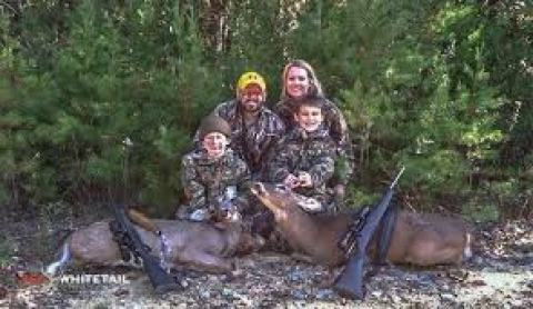 Cameron Hanes with his family