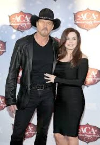 Rhonda with her ex-husband Trace