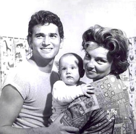 Dodie Levy-Fraser and late Michael Landon with their child