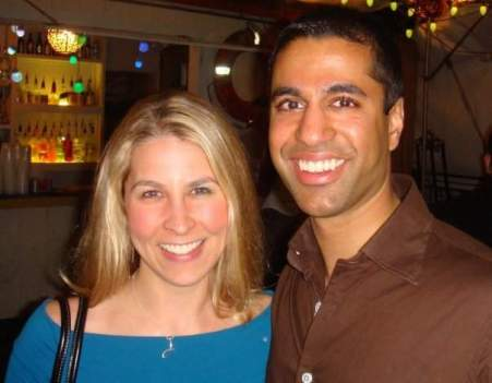 Ajit with his wife Janine