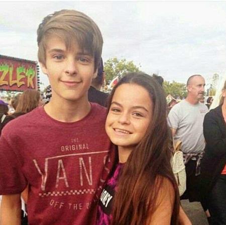 Baylee Fogelmanis and her brother