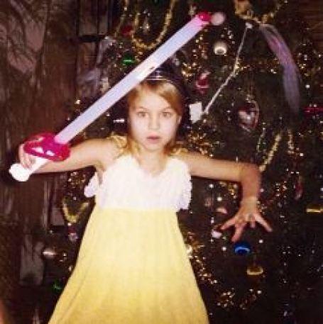 Childhood photo of Jessica Collins.