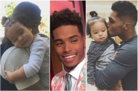 Lovely Father, Rome Flynn with his daughter, Kimiko.
