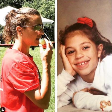 Childhood photo of Carli Lloyd.