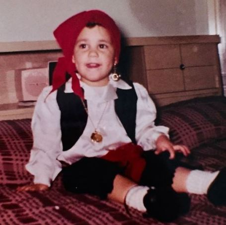 Childhood photo of Maurice Benard.