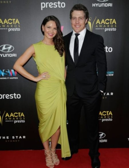 Steve Peacocke and his wife, Bridgette Sneddon arrived ahead of the 5th AACTA Awards Presented by Presto at The Star on 9th December 2015, in Sydney, Australia.