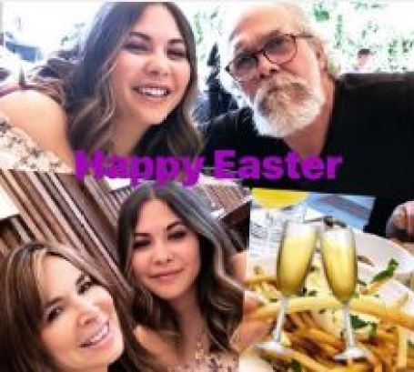 Lauren Koslow celebrating Happy Easter Day with her family members.
