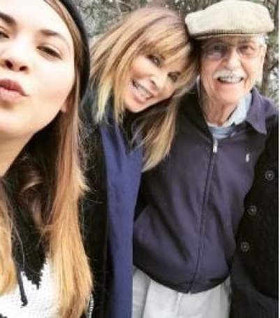 Lauren Koslow with her husband and beautiful daughter.