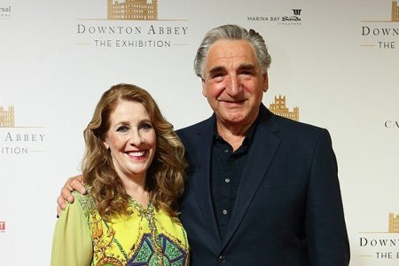 Phyllis with her co-star Jim Carter