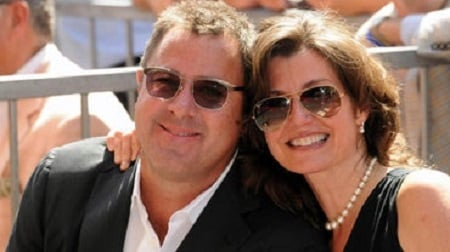 Janis Oliver and her former spouse Vince Gill