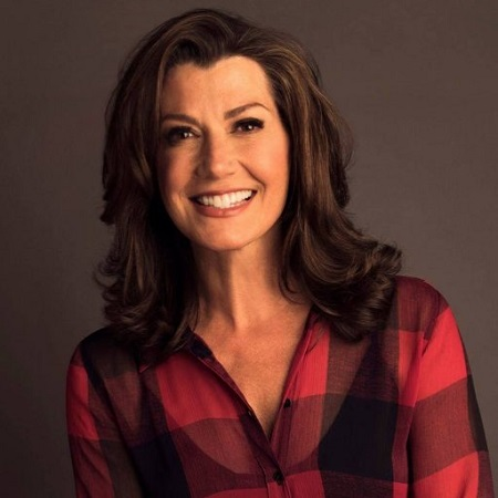 Amy grant in her check t-shirt