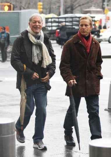 Martin Rabbett with his gay partner Richard Chamberlain