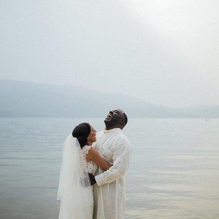 Chandra and Bashir on their wedding day