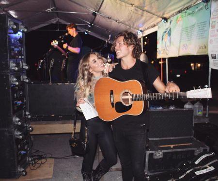 Christina with his girlfriend, Skyler
