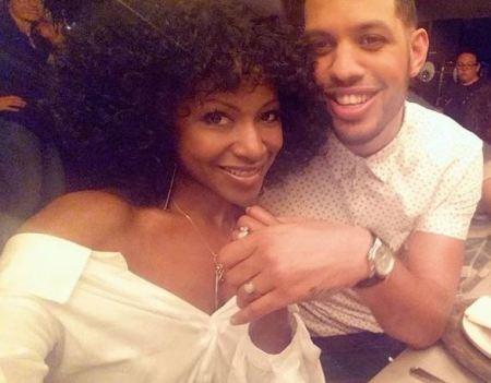 Gabrielle Dennis and her on-screen husband, Sarunas Jackson.