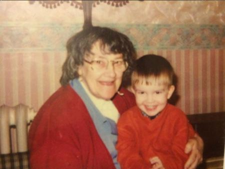 Childhood photo of Cometan with his late grandmother, Irenne Taylor.