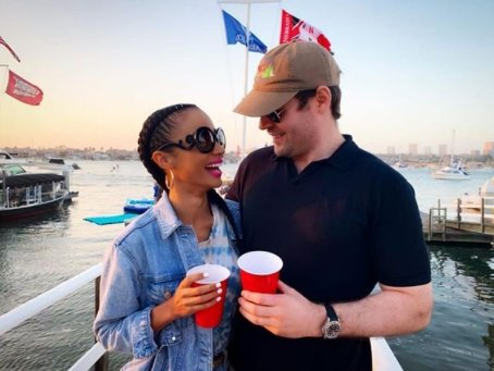 Erinn Westbrook and her fiance, Andrew in Newport Beach, California.