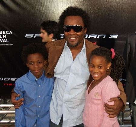 Lee Daniels with his two little children attended the world premiere of Spider-Man 3 in 2007.
