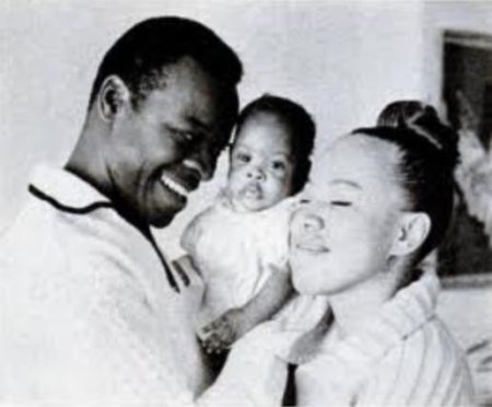 Brock Peters and his wife, Dolores Daniels with their daughter, Lisa Jo Peters.