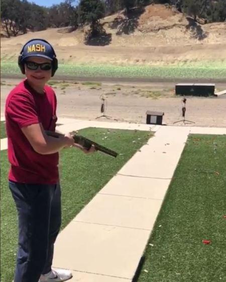 Maksim Bure in a shooting range